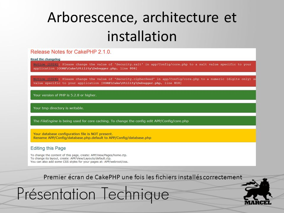 Arborescence, architecture et installation
