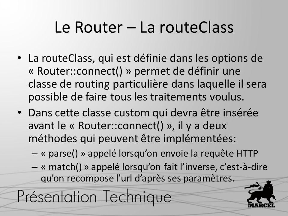 Le Router – La routeClass
