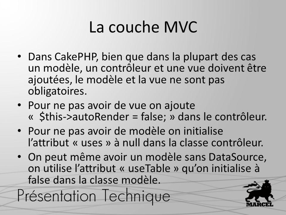 La couche MVC