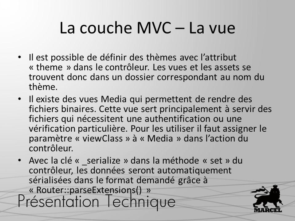 La couche MVC – La vue
