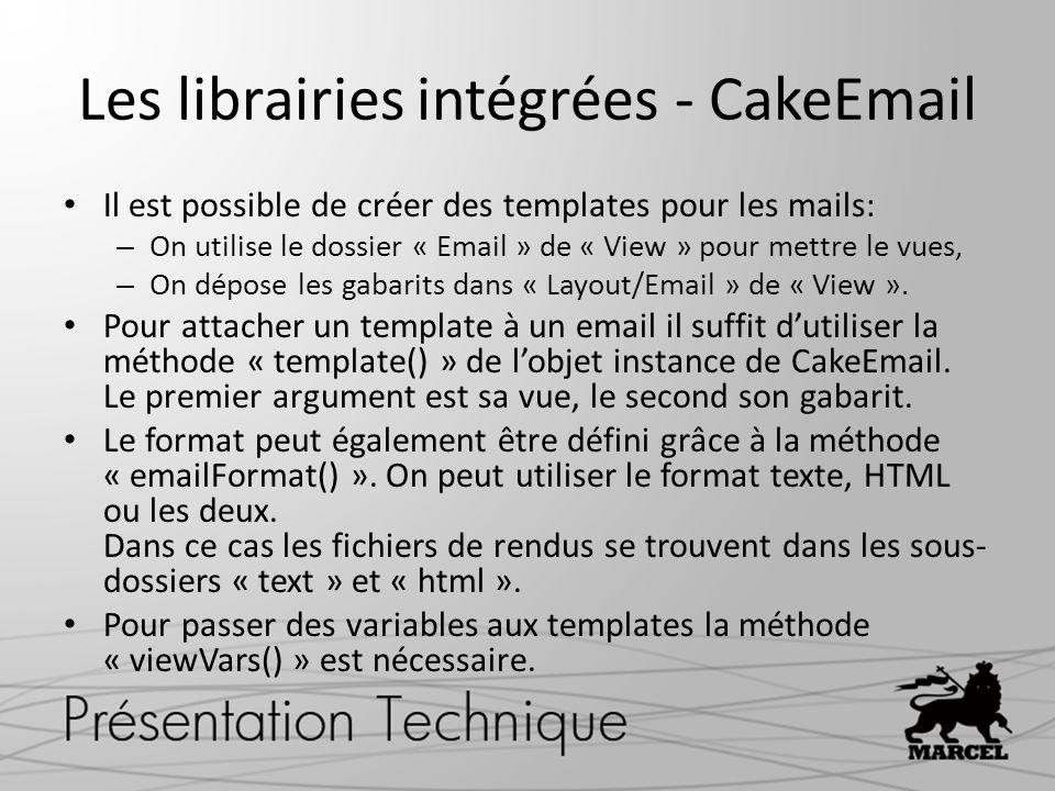 Les librairies intégrées - CakeEmail