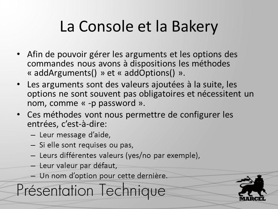 La Console et la Bakery