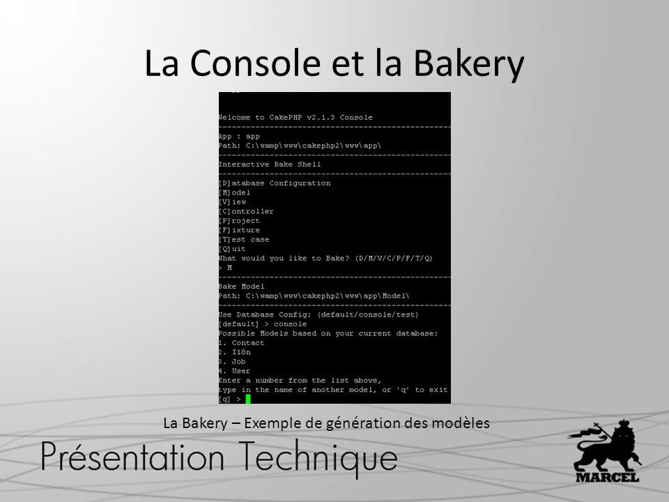 La Bakery – Exemple de génération des modèles