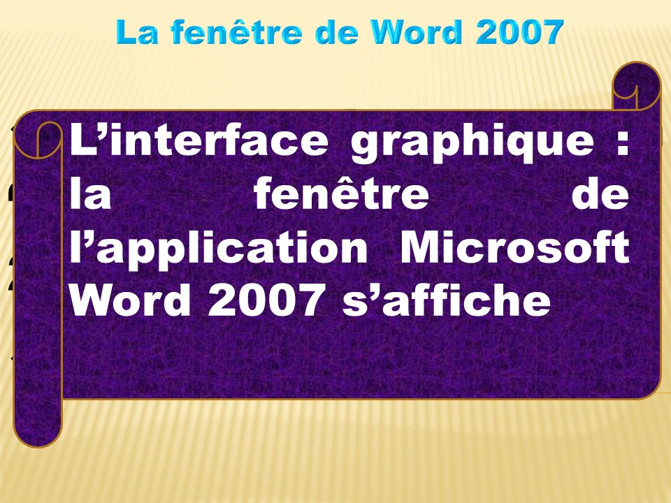 Lancer l'application ''Microsoft Office Word 2007'' Résultat