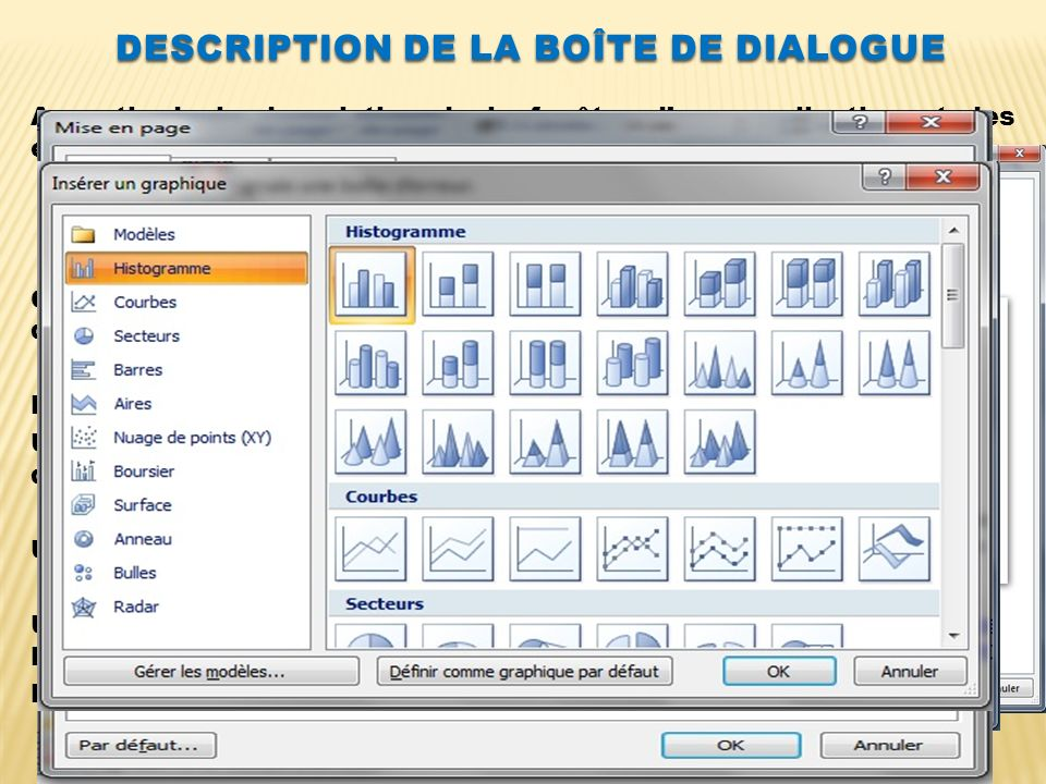 Description de La boîte de dialogue