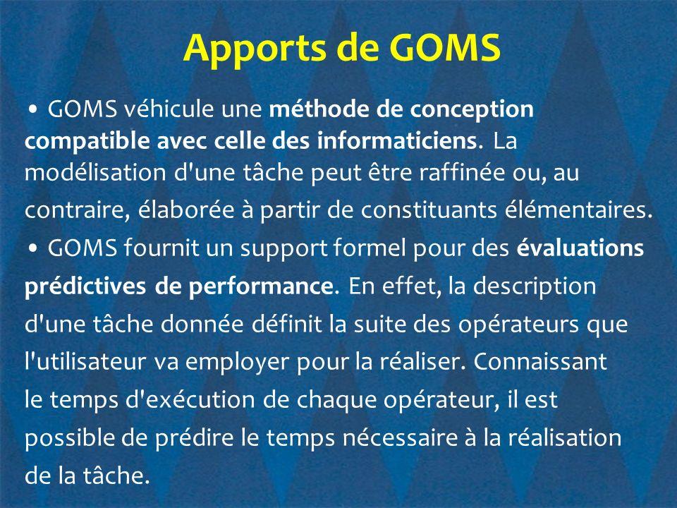 Apports de GOMS