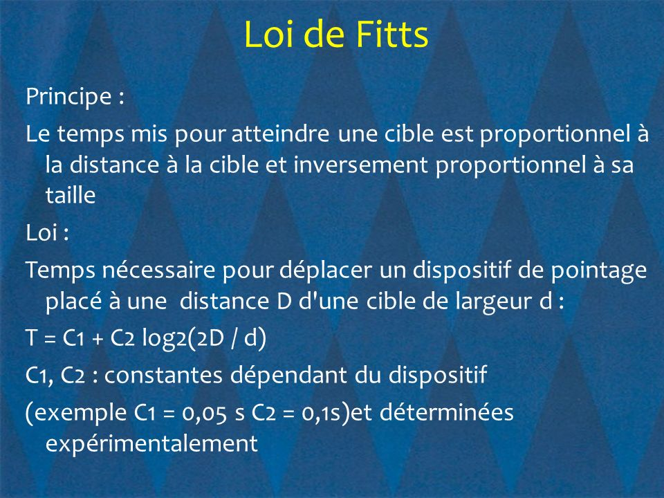 Loi de Fitts