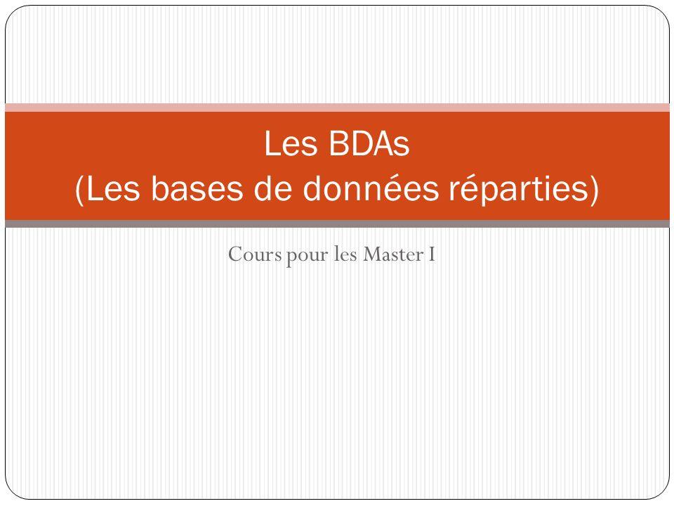 Les BDAs (Les bases de données réparties)