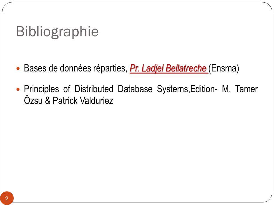 Bibliographie Bases de données réparties, Pr. Ladjel Bellatreche (Ensma)