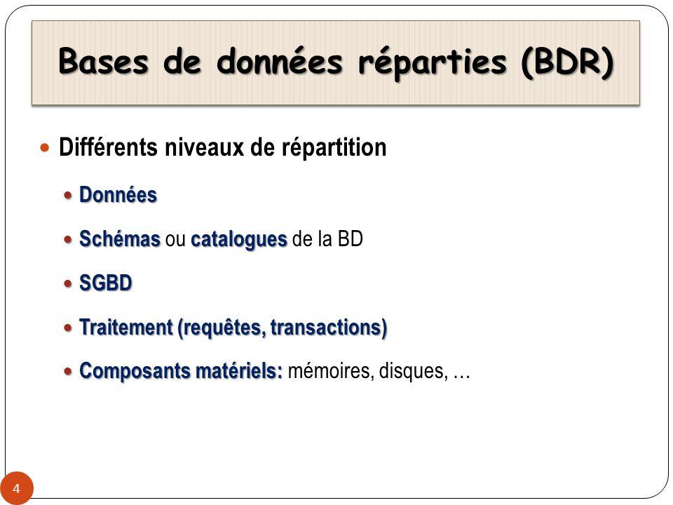 Bases de données réparties (BDR)