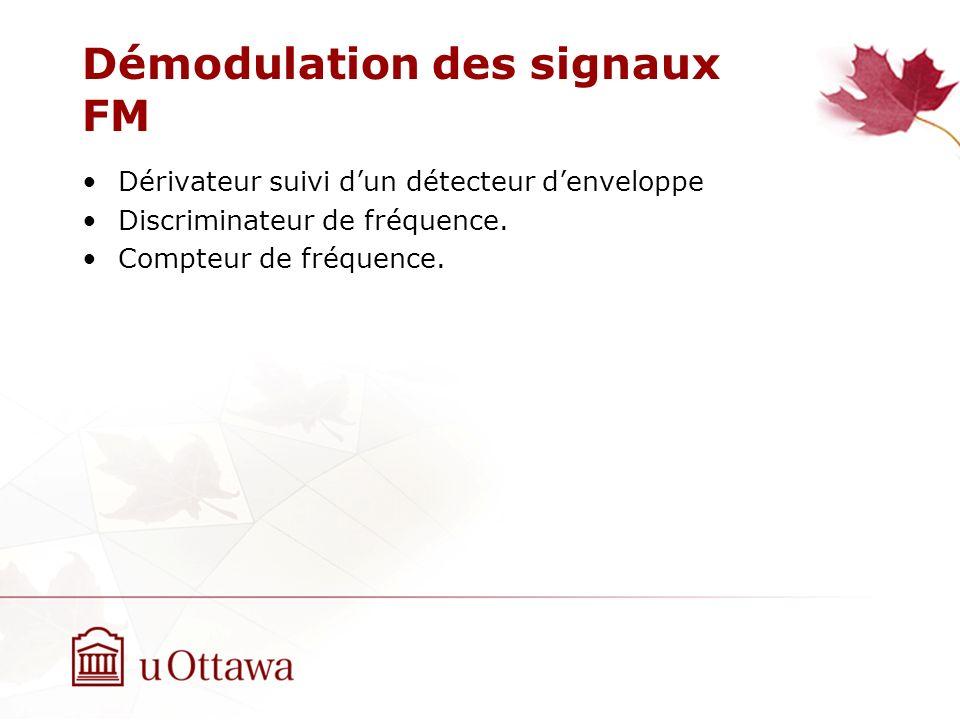 Démodulation des signaux FM