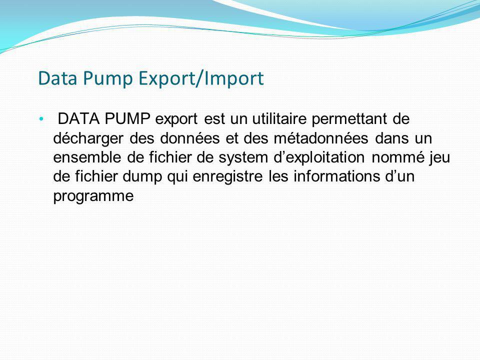 Data Pump Export/Import