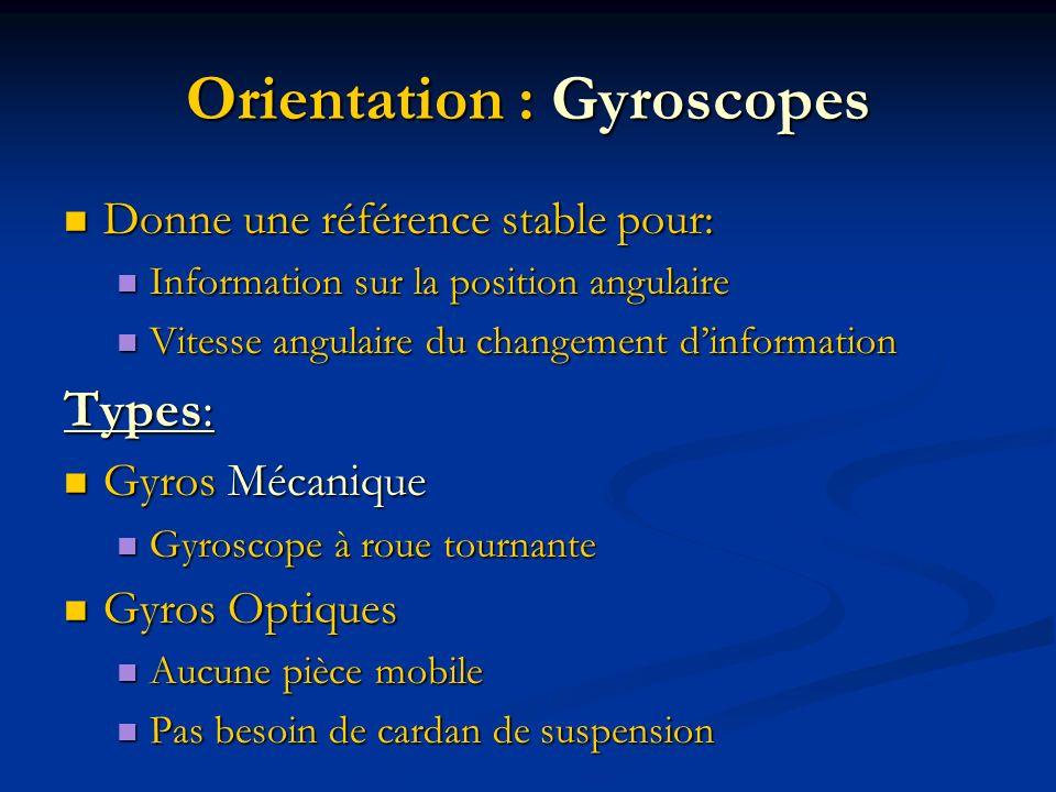 Orientation : Gyroscopes
