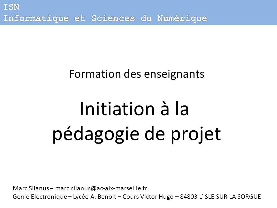 Initiation à la pédagogie de projet