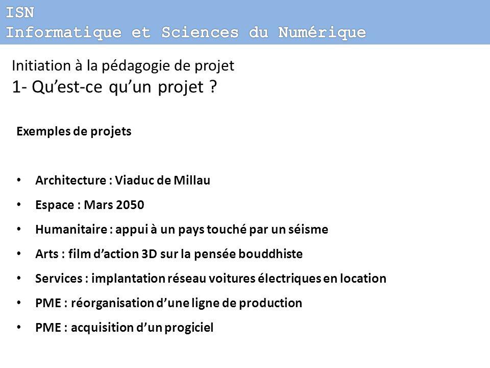 1- Qu'est-ce qu'un projet