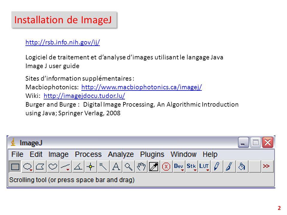 Installation de ImageJ