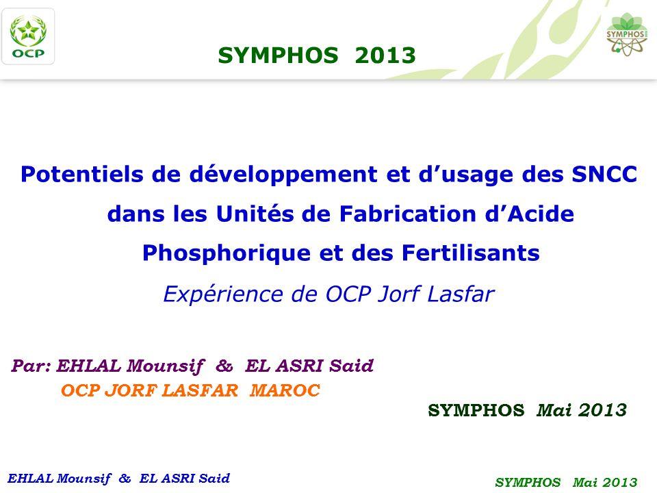 Expérience de OCP Jorf Lasfar