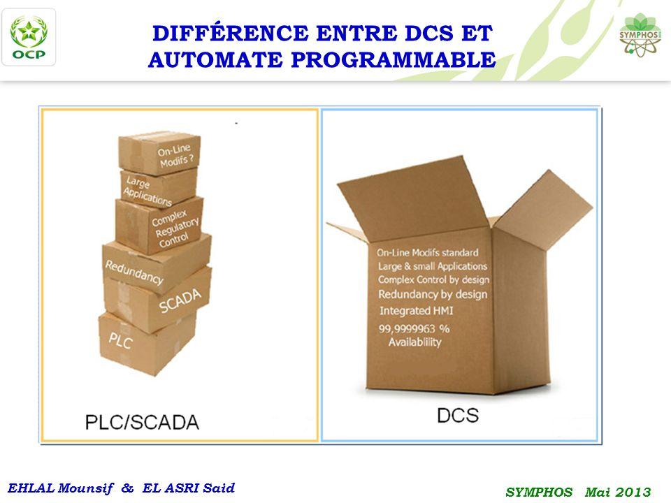 DIFFÉRENCE ENTRE DCS ET AUTOMATE PROGRAMMABLE
