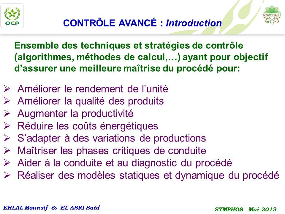 CONTRÔLE AVANCÉ : Introduction