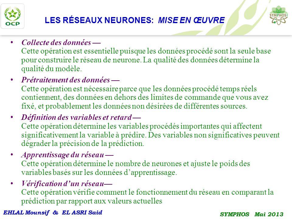 LES RÉSEAUX NEURONES: MISE EN ŒUVRE