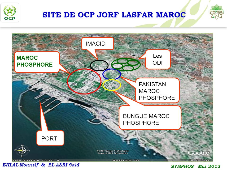 SITE DE OCP JORF LASFAR MAROC