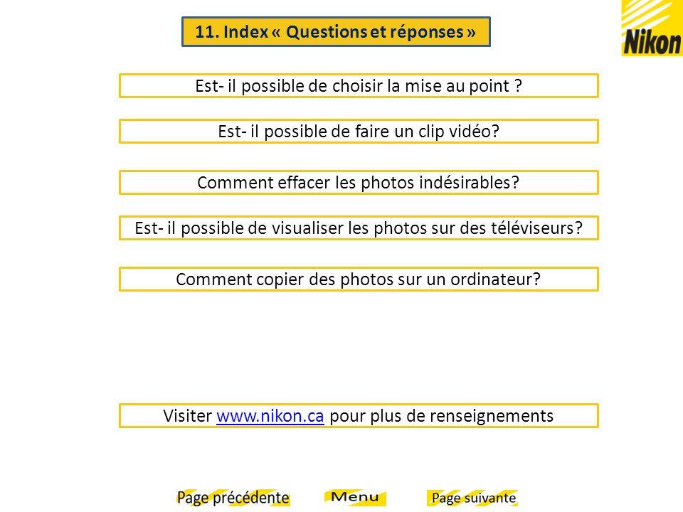 11. Index « Questions et réponses »