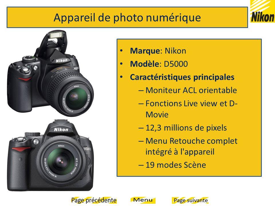 Appareil de photo numérique