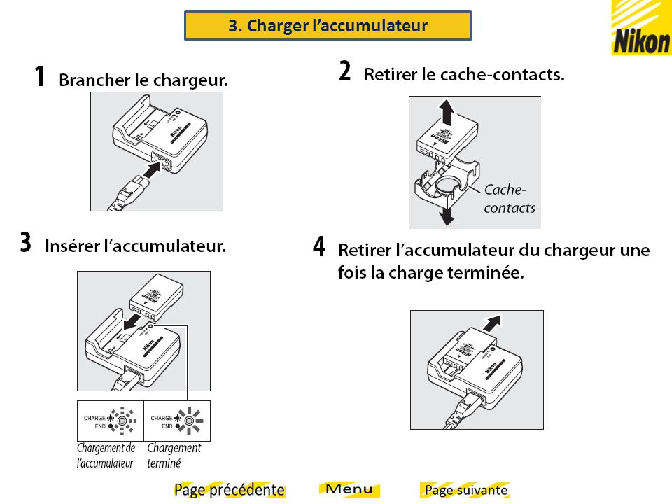 3. Charger l'accumulateur