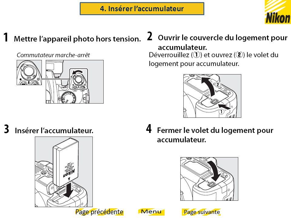 4. Insérer l'accumulateur