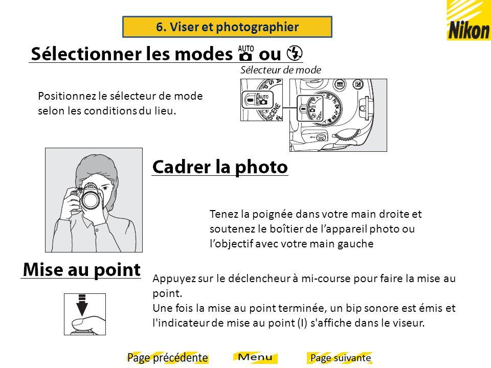 6. Viser et photographier