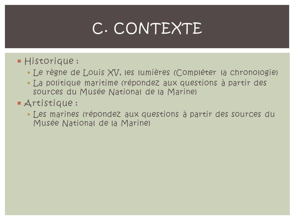 C. Contexte Historique : Artistique :