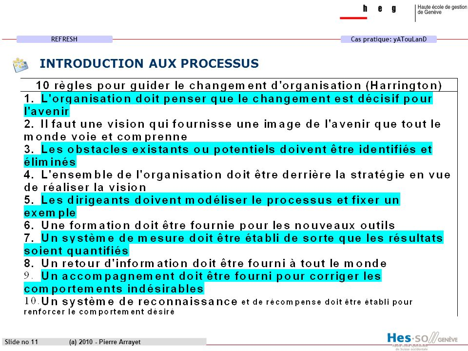 INTRODUCTION AUX PROCESSUS