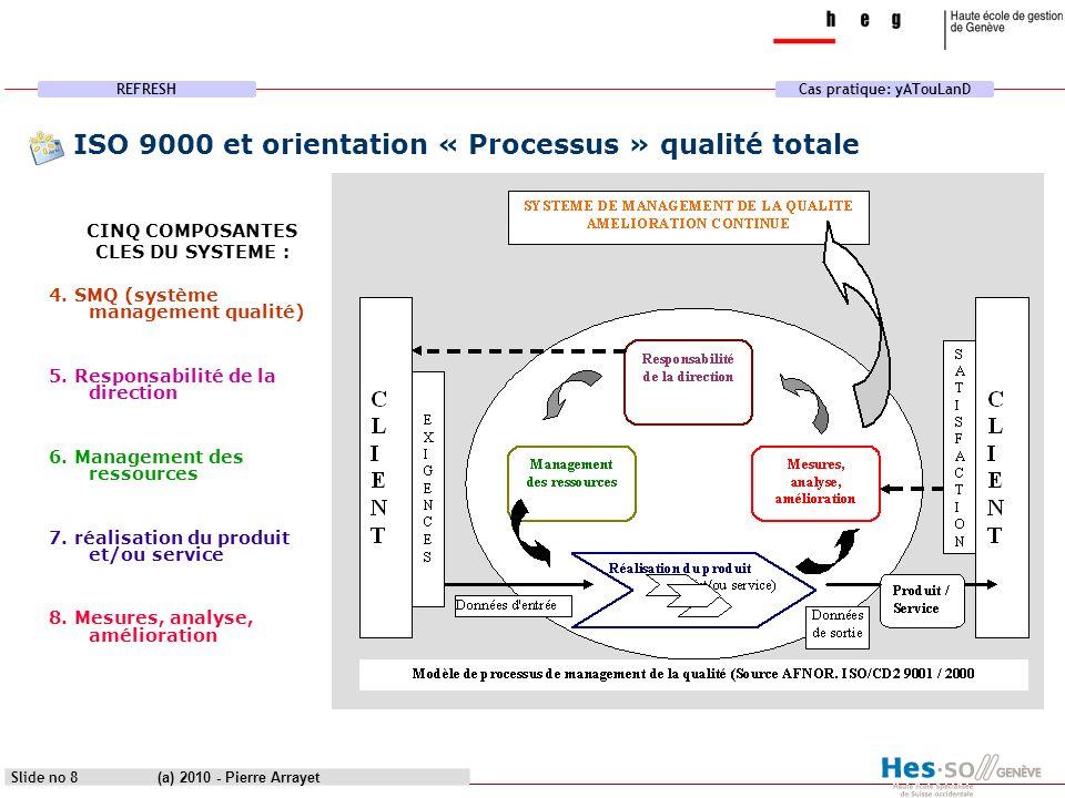ISO 9000 et orientation « Processus » qualité totale