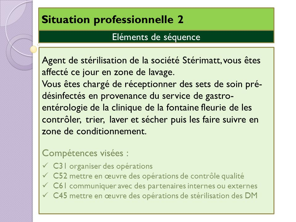 Situation professionnelle 2