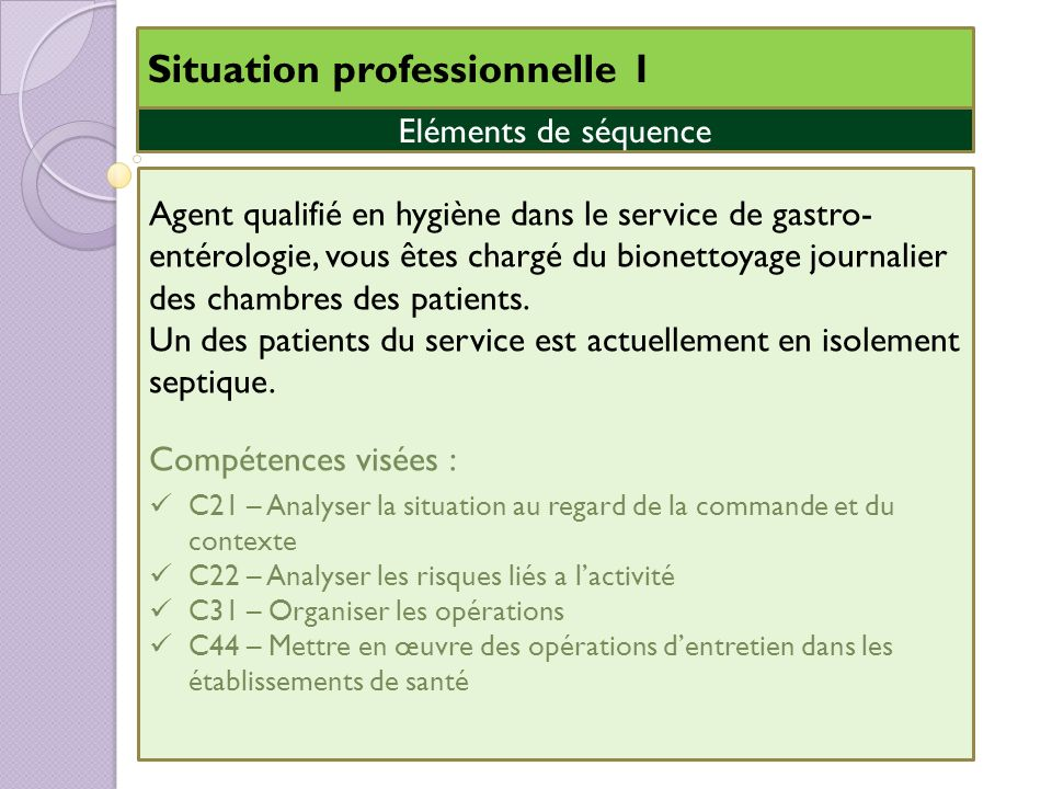 Situation professionnelle 1