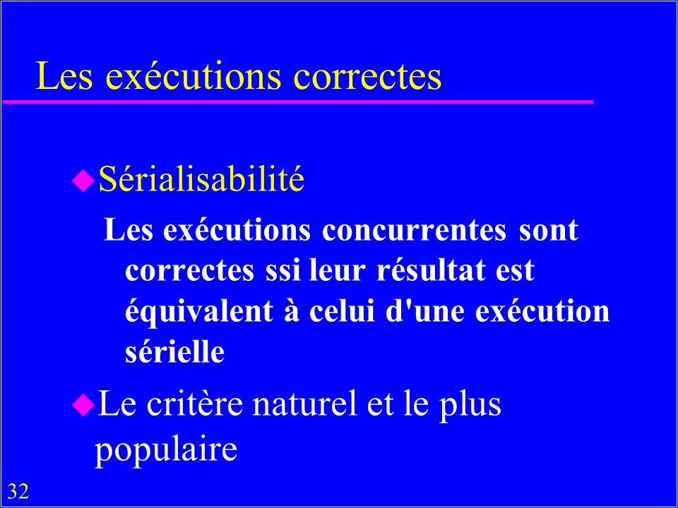 Les exécutions correctes