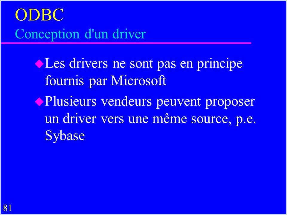 ODBC Conception d un driver
