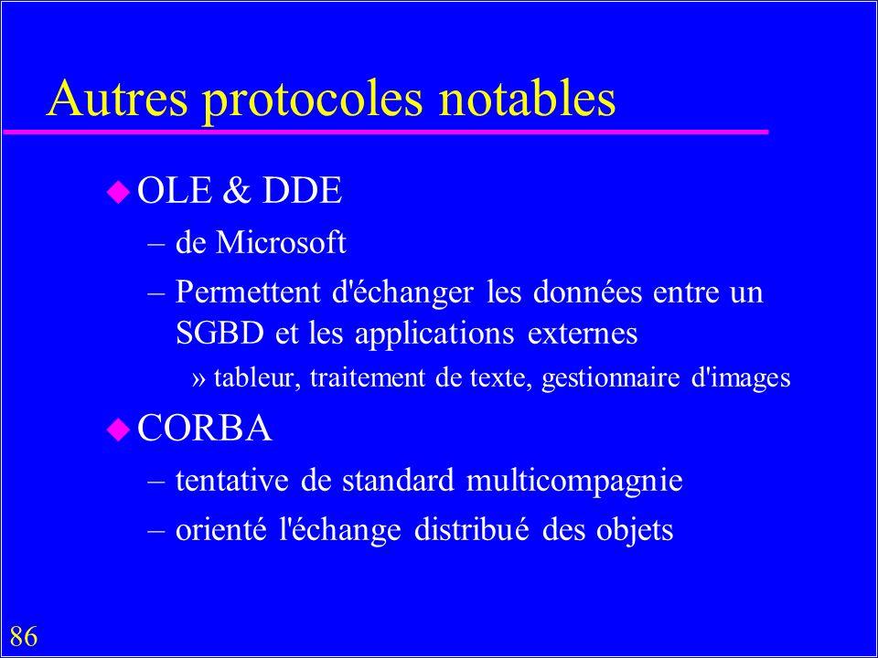 Autres protocoles notables