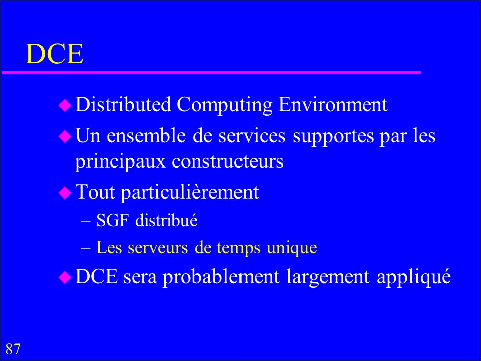 DCE Distributed Computing Environment