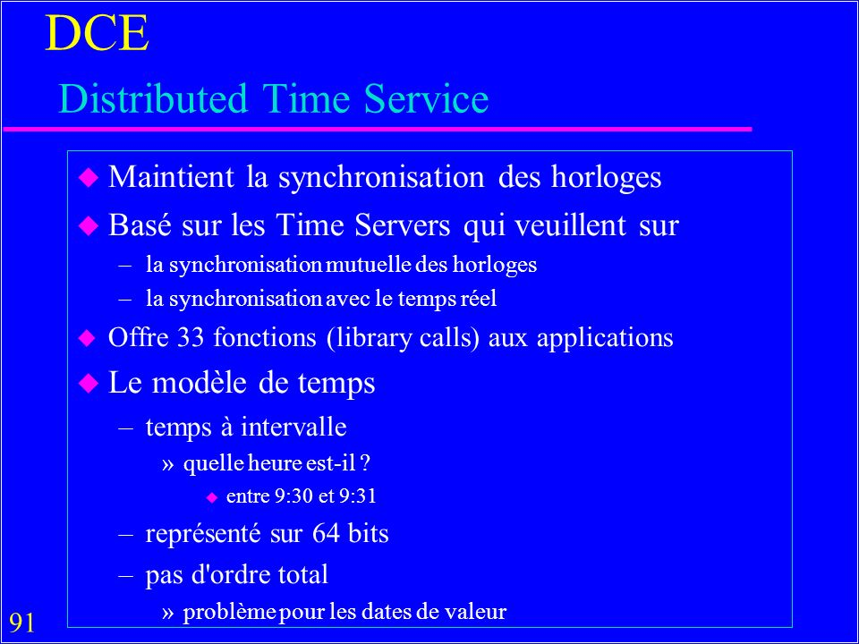 DCE Distributed Time Service