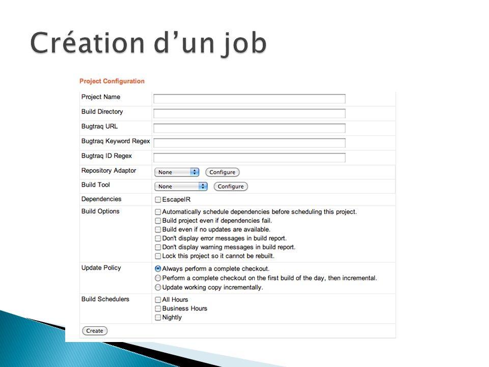 Création d'un job