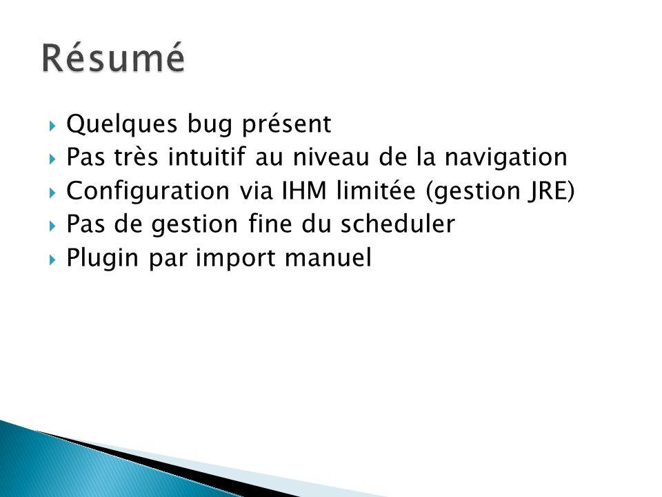 Résumé Quelques bug présent
