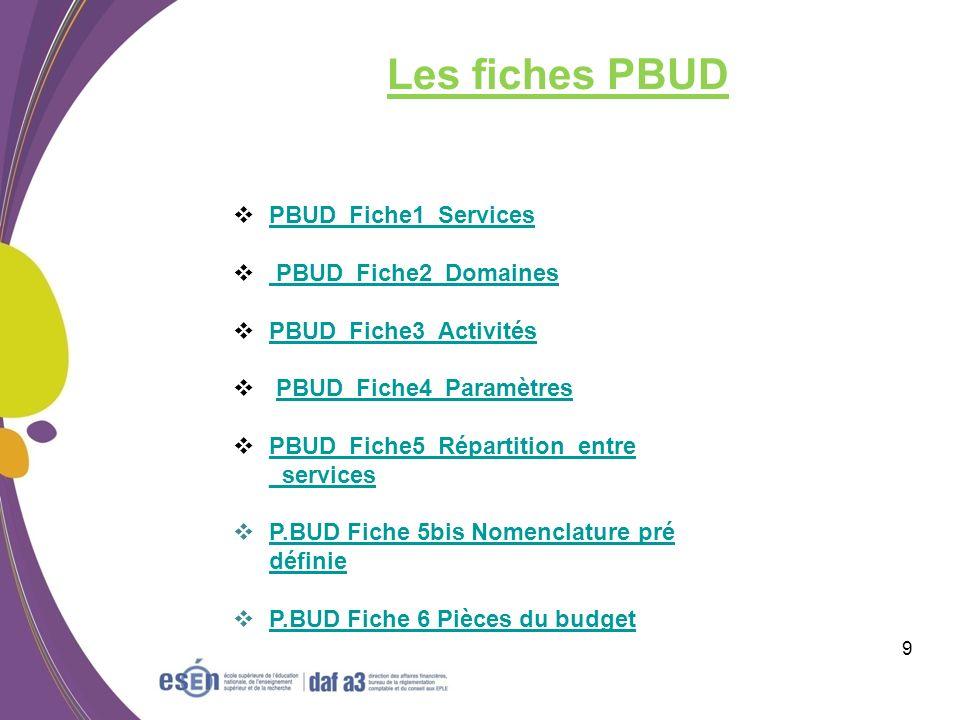 Les fiches PBUD PBUD_Fiche1_Services PBUD_Fiche2_Domaines
