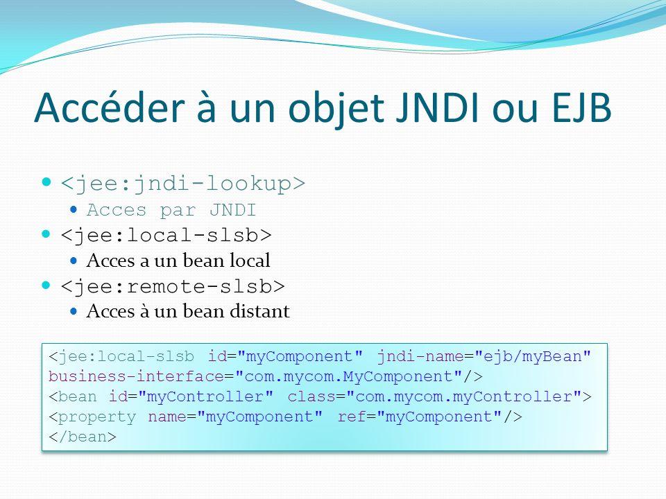 Accéder à un objet JNDI ou EJB