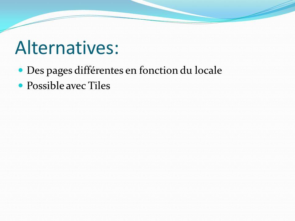Alternatives: Des pages différentes en fonction du locale
