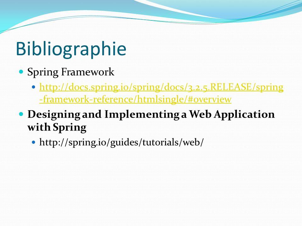Bibliographie Spring Framework