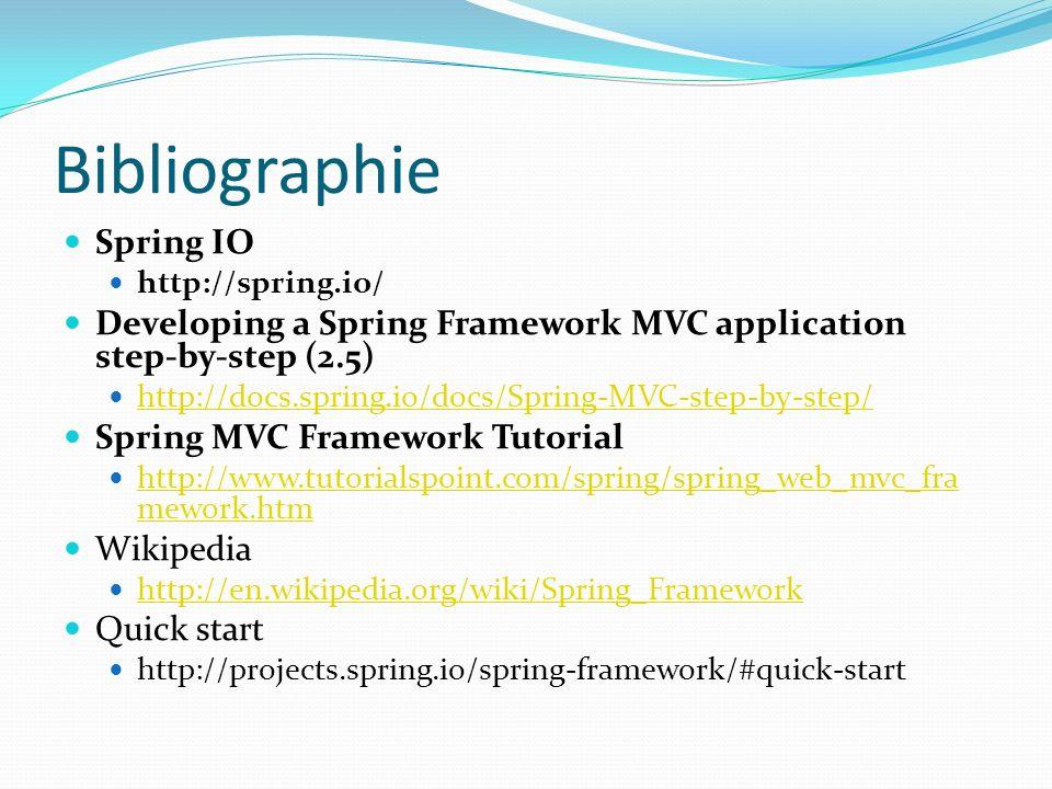 Bibliographie Spring IO