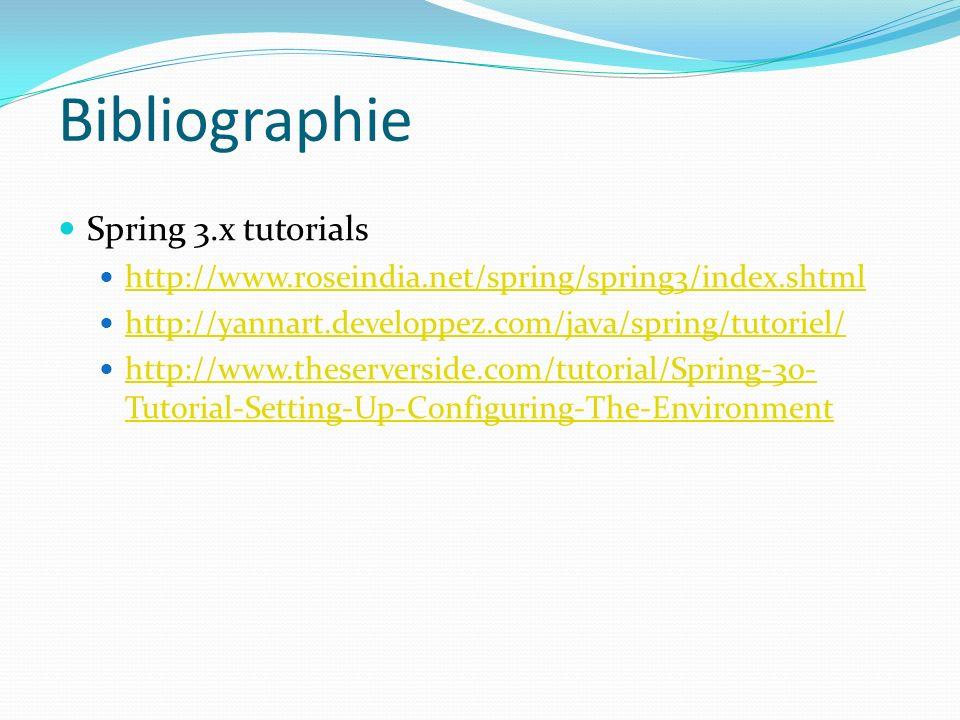 Bibliographie Spring 3.x tutorials