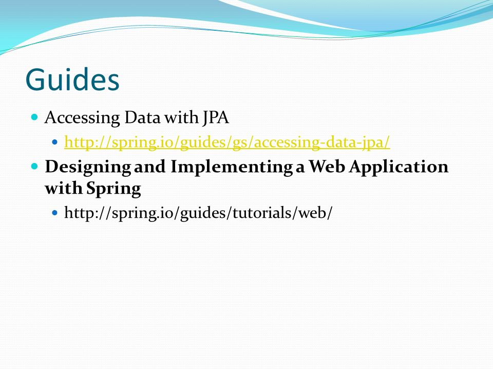 Guides Accessing Data with JPA