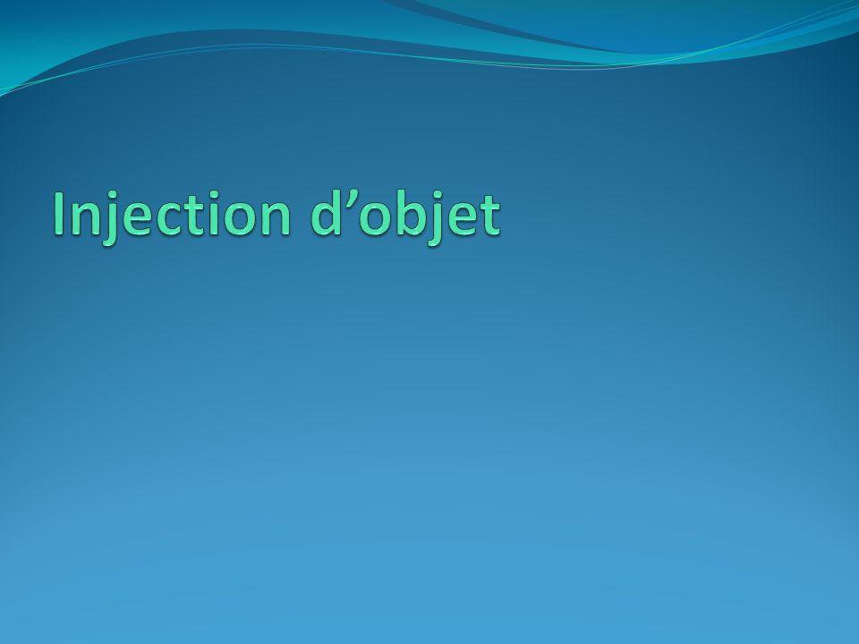Injection d'objet